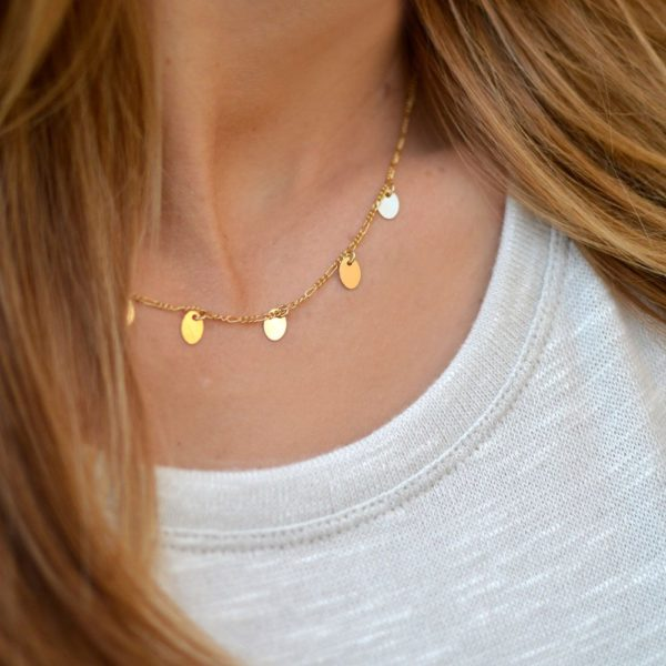Delicate Gold Disc Necklace by Emily Eggebrecht