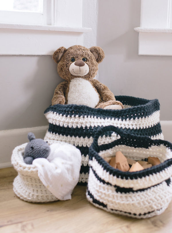 Chunky Crocheted Baskets | Jessica Carey