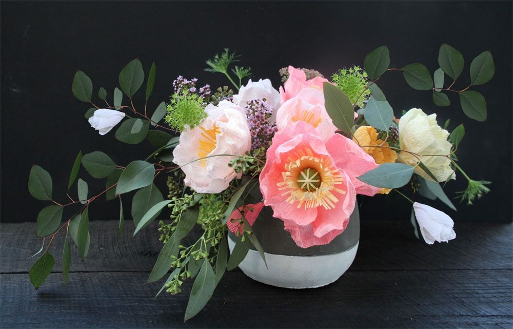 05 Materials Kit: White & Coral Pink Paper Flower Making (the ...