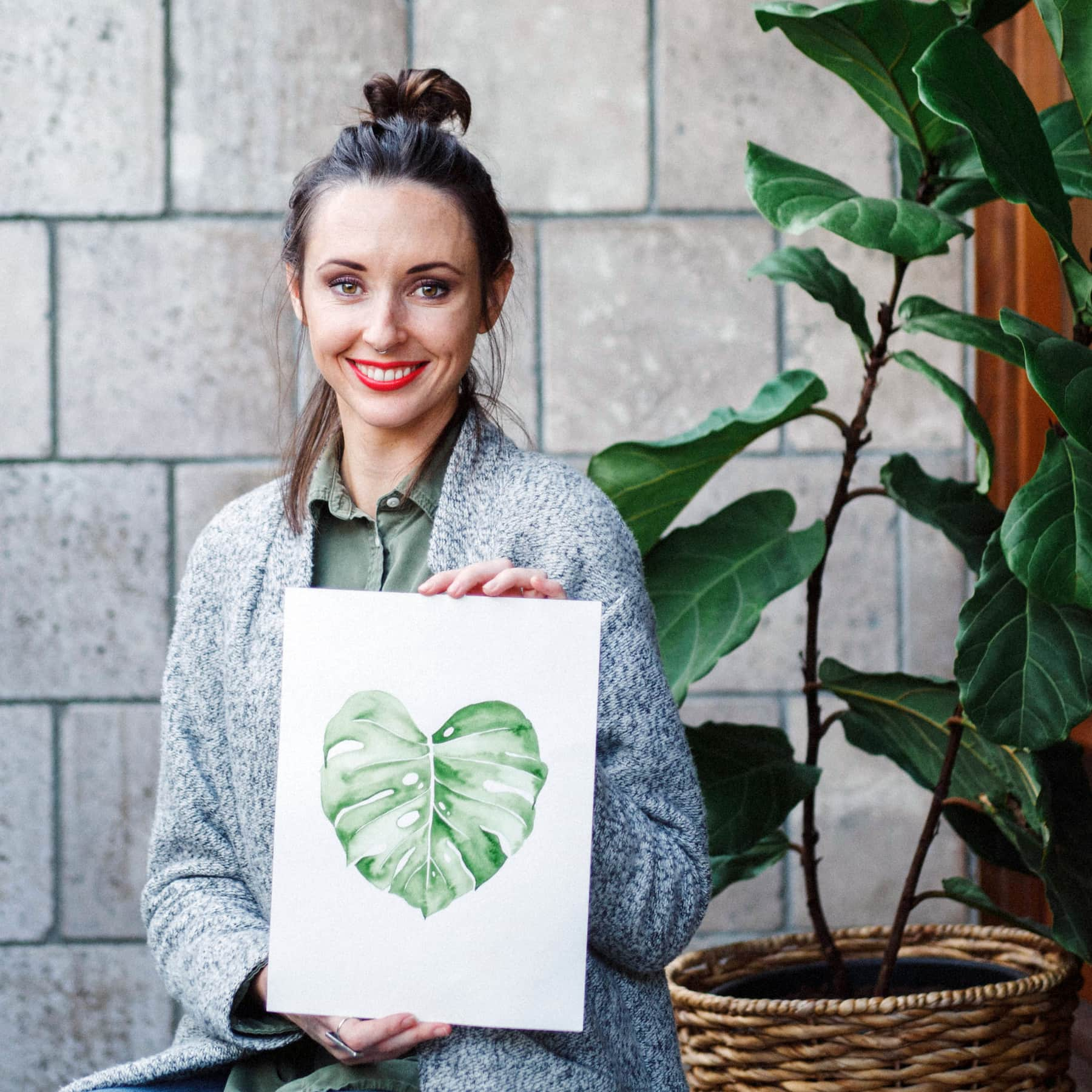Wet-On-Wet Watercolored Botanical Leaves | Jenna Rainey | The Crafters Box