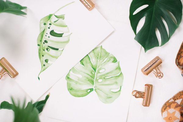 Wet-On-Wet Watercolored Botanical Leaves | Jenna Rainey