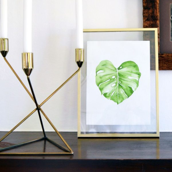 Materials Kit: Brushed Gold Floating Frame