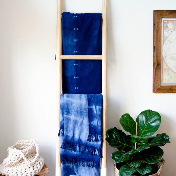 Materials Kit: A Handwoven Cotton Blanket | Shibori Indigo Dyeing