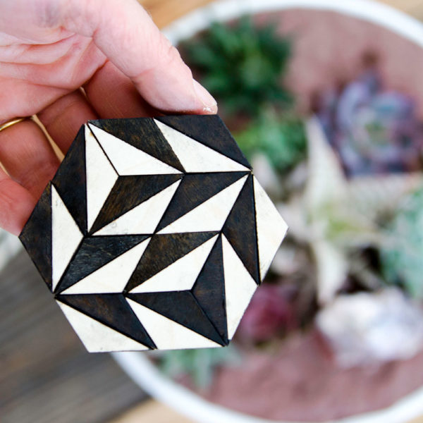 Geometric Wood Art | Pattern Play & Coasters | Nicole Sweeney