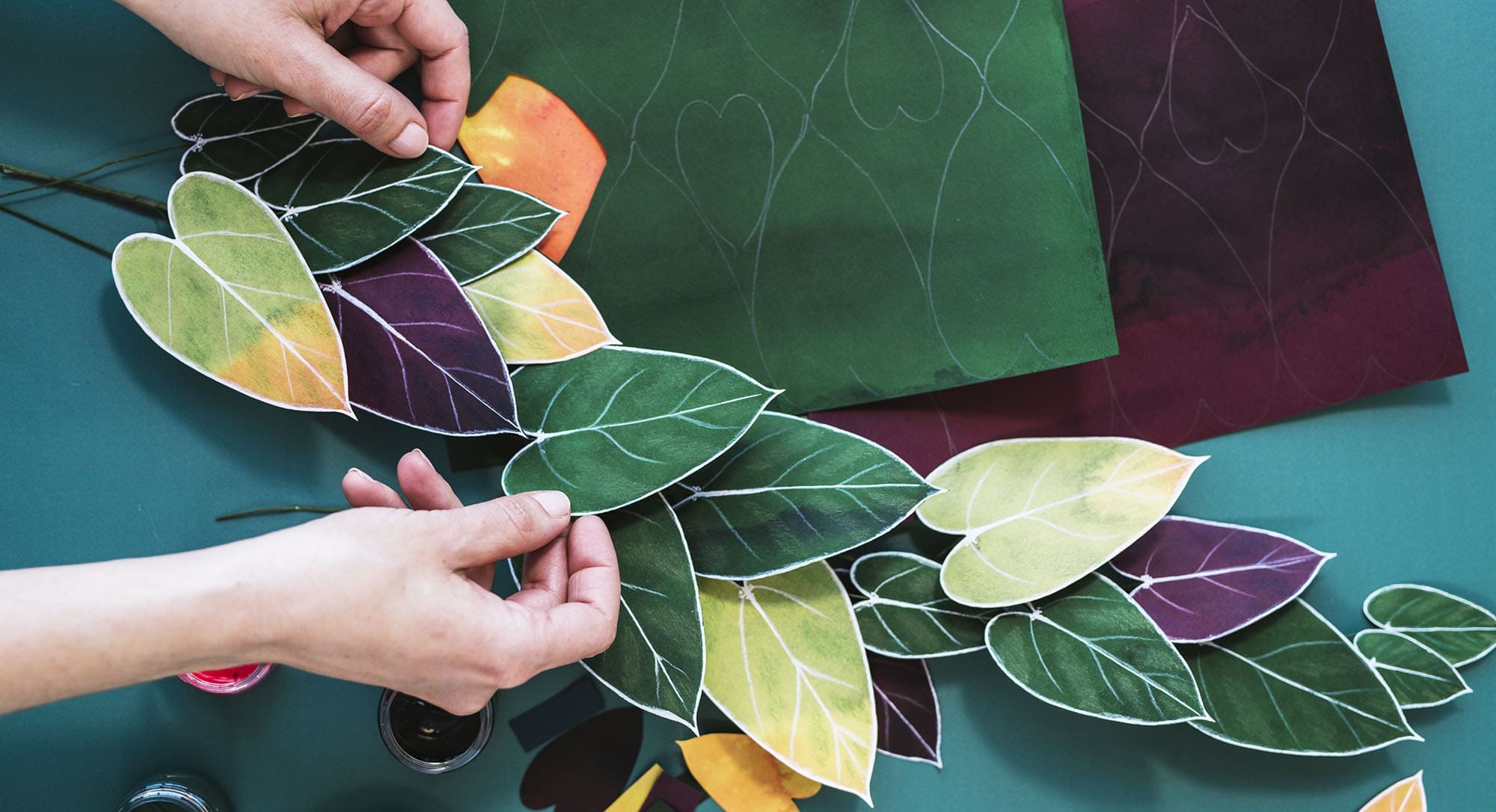 Handcrafted Paper Foliage | Philodendron | Corrie Beth Hogg