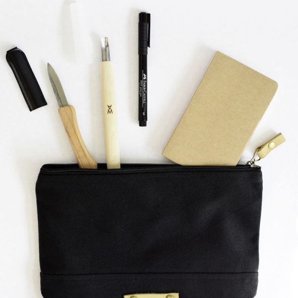 A Canvas & Leather Crafting Pouch | For crafting essentials, a collaboration with To The Market