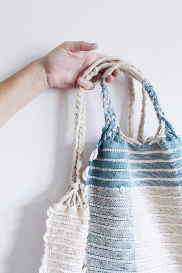 The Mere Tote Bag designed by Rachel Snack | Premium Rigid Heddle Weaving Materials Kit