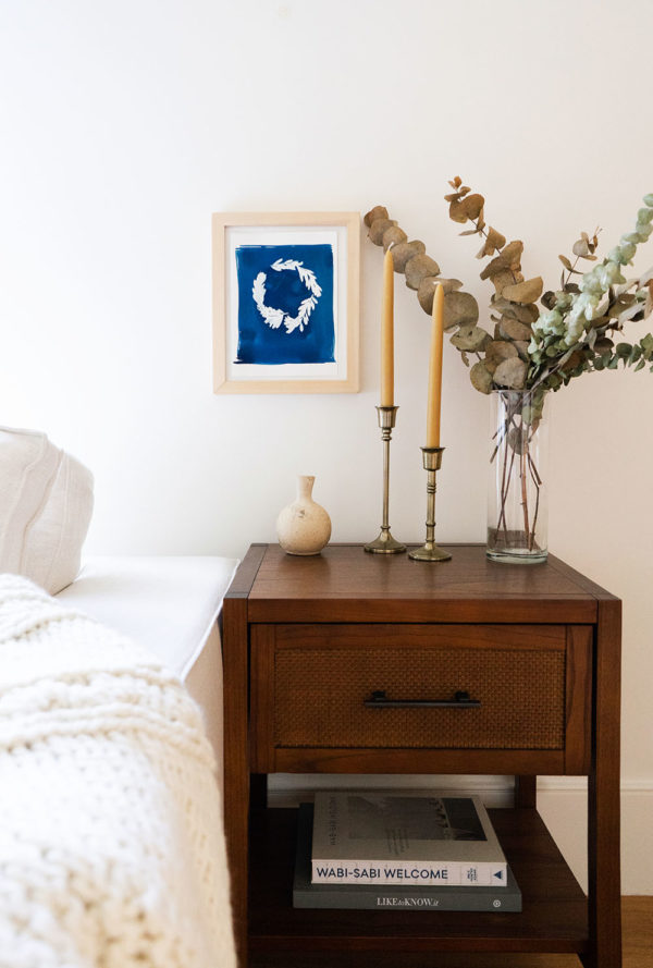 Framed Cyanotype Wreath | The Crafter's Box