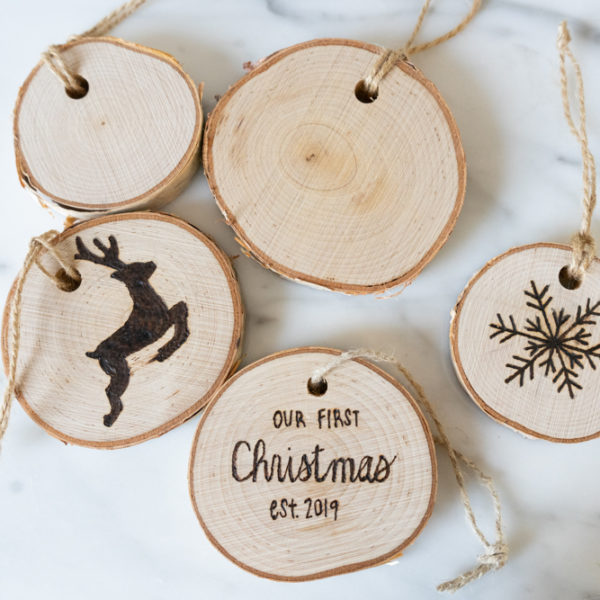 A Wood Burned Ornaments Materials Kit | The Crafter's Box