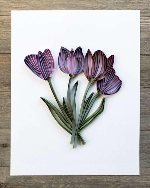 Modern Paper Quilling | Tulip Bouquet Add-On | Zahra Ammar
