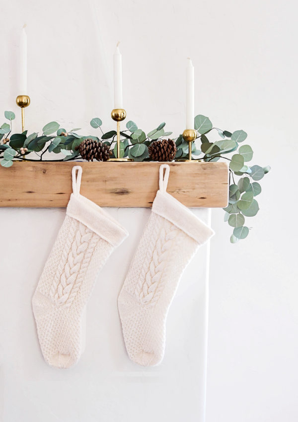 Cozy Knit Cabled Christmas Stocking | Ksenia Naidyon | Crafter's Box