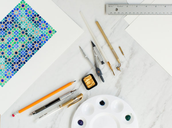 Eastern Geometric Drawing & Painting | Zahra Ammar | The Crafter's Box