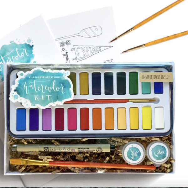 Branded Kit | Watercolor | Wildflower Art Studio | Crafter's Box