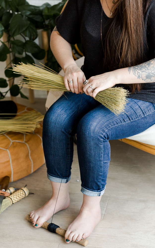Broom Making: Naked Turkey Wing | Alyssa Blackwell | The Crafter's Box